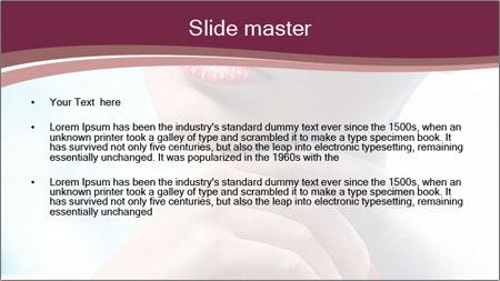 Woman's Pretty Portrait PowerPoint Template - Slide 2