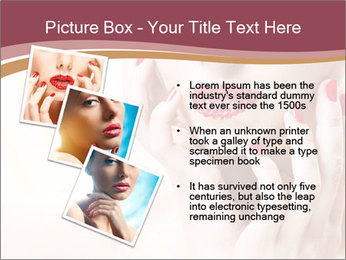 Sweet Woman's Face PowerPoint Template - Slide 17