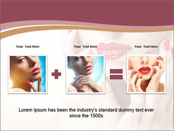 Sweet Woman's Face PowerPoint Template - Slide 22