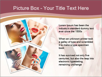 Sweet Woman's Face PowerPoint Template - Slide 23