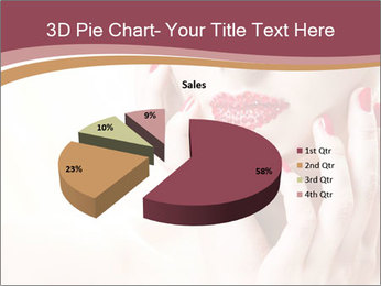 Sweet Woman's Face PowerPoint Template - Slide 35