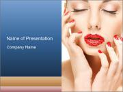 Red Visage Cosmetics PowerPoint Templates