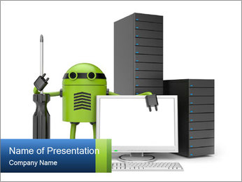 Fix Android Computer PowerPoint Templates - Slide 1