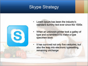 Vegan Wife Readidng Cook Book PowerPoint Template - Slide 8