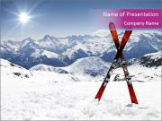 Sun in the Alps Ski Resort PowerPoint Templates