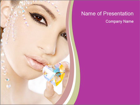 Diamond Woman PowerPoint Templates