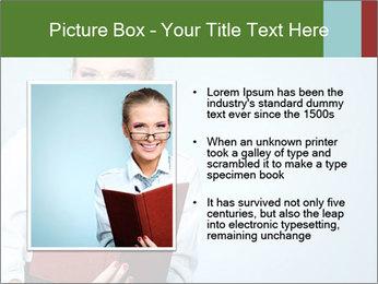 Woman Boss Holding Notebook PowerPoint Templates - Slide 13