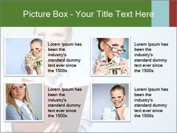 Woman Boss Holding Notebook PowerPoint Templates - Slide 14