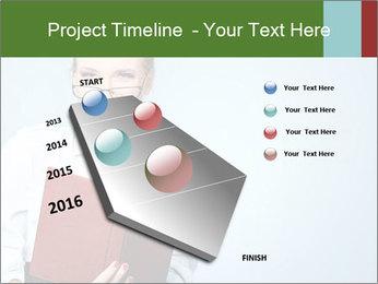 Woman Boss Holding Notebook PowerPoint Templates - Slide 26