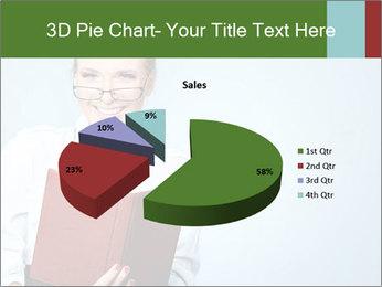Woman Boss Holding Notebook PowerPoint Templates - Slide 35