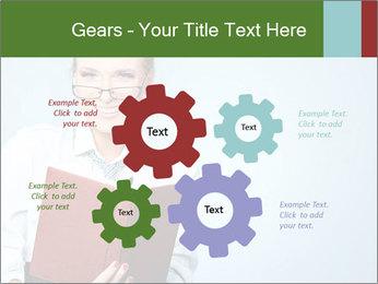Woman Boss Holding Notebook PowerPoint Templates - Slide 47