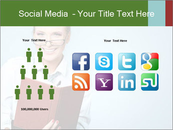 Woman Boss Holding Notebook PowerPoint Templates - Slide 5