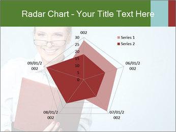 Woman Boss Holding Notebook PowerPoint Templates - Slide 51
