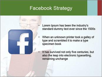 Woman Boss Holding Notebook PowerPoint Templates - Slide 6