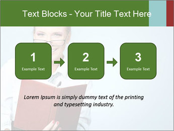Woman Boss Holding Notebook PowerPoint Templates - Slide 71