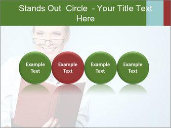 Woman Boss Holding Notebook PowerPoint Templates - Slide 76