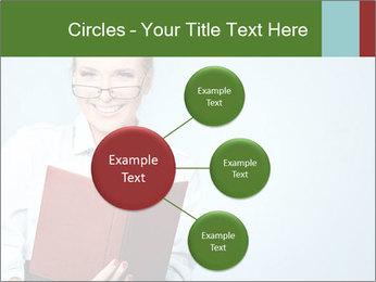 Woman Boss Holding Notebook PowerPoint Templates - Slide 79