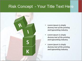Woman Boss Holding Notebook PowerPoint Templates - Slide 81
