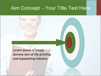 Woman Boss Holding Notebook PowerPoint Templates - Slide 83