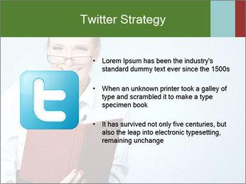 Woman Boss Holding Notebook PowerPoint Templates - Slide 9