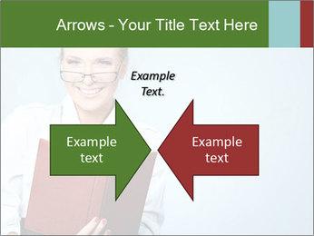 Woman Boss Holding Notebook PowerPoint Templates - Slide 90