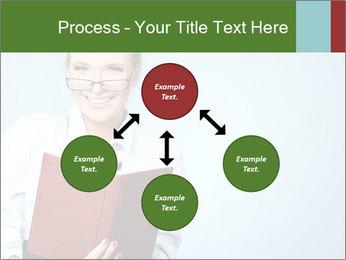 Woman Boss Holding Notebook PowerPoint Templates - Slide 91