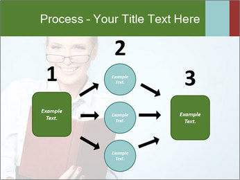 Woman Boss Holding Notebook PowerPoint Templates - Slide 92