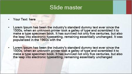Woman Boss Holding Notebook PowerPoint Template - Slide 2