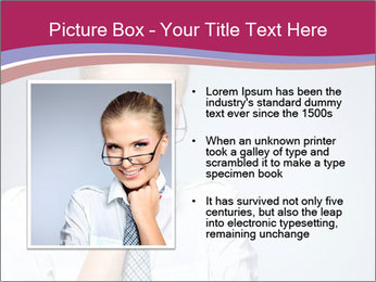 Businesswoman Wearing Trendy Glasses PowerPoint Template - Slide 13