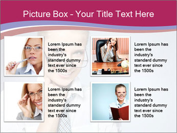 Businesswoman Wearing Trendy Glasses PowerPoint Template - Slide 14