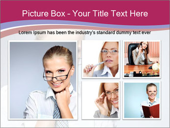 Businesswoman Wearing Trendy Glasses PowerPoint Template - Slide 19