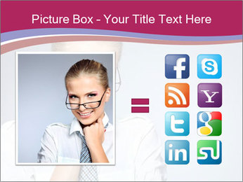 Businesswoman Wearing Trendy Glasses PowerPoint Template - Slide 21