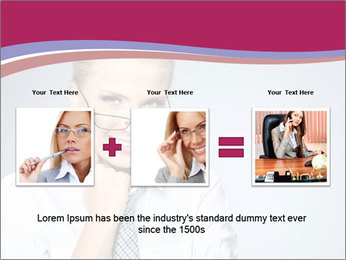 Businesswoman Wearing Trendy Glasses PowerPoint Template - Slide 22