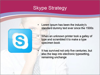 Businesswoman Wearing Trendy Glasses PowerPoint Template - Slide 8