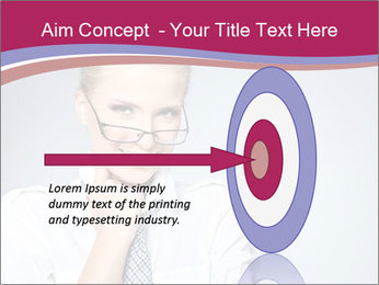 Businesswoman Wearing Trendy Glasses PowerPoint Template - Slide 83