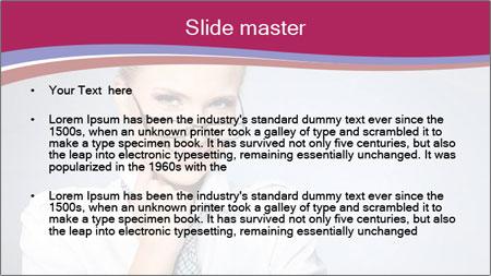Businesswoman Wearing Trendy Glasses PowerPoint Template - Slide 2