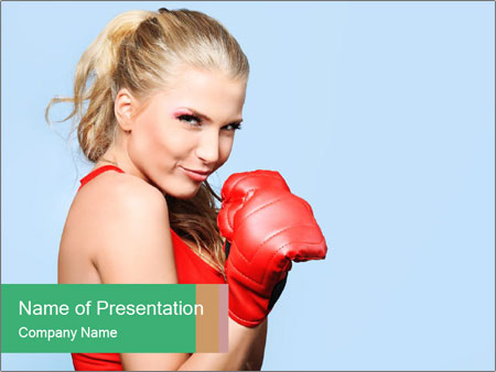 Selfdefence for Young Woman PowerPoint Templates