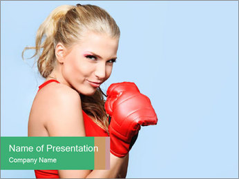 Selfdefence for Young Woman PowerPoint Templates - Slide 1