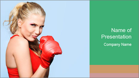 Selfdefence for Young Woman PowerPoint Template