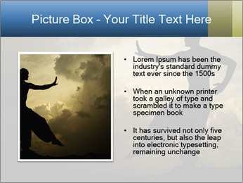 Silhouette of Martial Arts Master PowerPoint Template - Slide 13