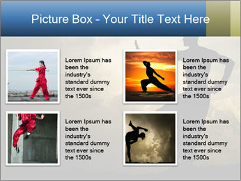 Silhouette of Martial Arts Master PowerPoint Template - Slide 14