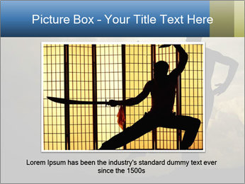 Silhouette of Martial Arts Master PowerPoint Template - Slide 16