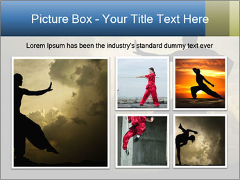Silhouette of Martial Arts Master PowerPoint Template - Slide 19