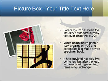 Silhouette of Martial Arts Master PowerPoint Template - Slide 20