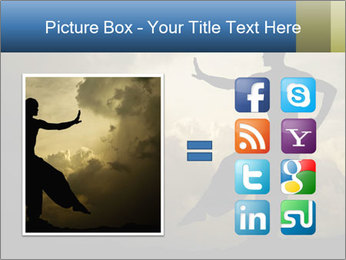 Silhouette of Martial Arts Master PowerPoint Template - Slide 21
