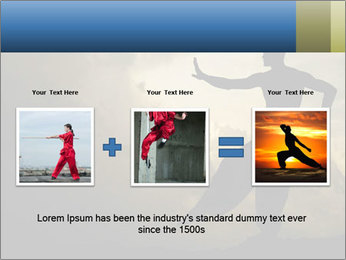 Silhouette of Martial Arts Master PowerPoint Template - Slide 22