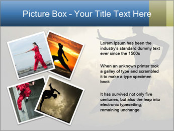 Silhouette of Martial Arts Master PowerPoint Template - Slide 23