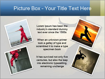 Silhouette of Martial Arts Master PowerPoint Template - Slide 24