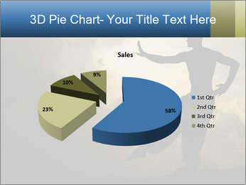 Silhouette of Martial Arts Master PowerPoint Template - Slide 35