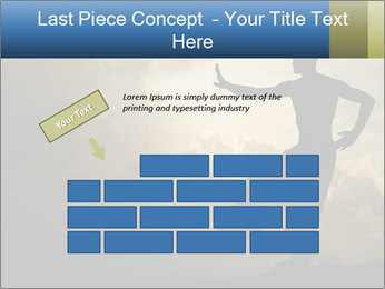 Silhouette of Martial Arts Master PowerPoint Template - Slide 46